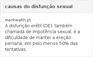causas do disfunção sexual